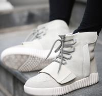 homens botas de couro branco tornozelo venda por atacado-Atacado-2016 primavera e no outono dos homens botas brancas de couro de marca ankle boots botas à prova d 'água ao ar livre sapatos casuais TAMANHO 39-44