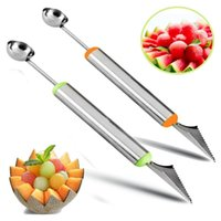 Wholesale Digging Knife - Home Kitchen Bar Fruit Carving Knife Cutter Watermelon Cantaloupe Melon Dig Ball Scoop For DIY Fruit Salads