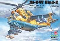 """Wholesale E 72 - Wholesale- hobby toy 1 72 scale fighter Mi-24V """" Hind """"E attack aircraft helicopter gunships model kit toys for children"""