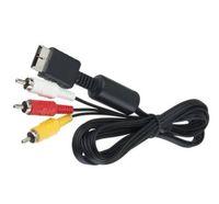 ps av kabel großhandel-Fabrikpreis 6 Fuß 1,8M Audiokabel zu RCA für Sony PlayStation für PS / PS2 / PS3 Video AV 100pcs