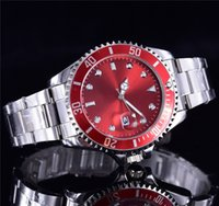 Wholesale commercial color - RED WATCH 40MM mens designer relogio New fashion fashion men's luxury brand automatic watch commercial quartz clock submarine watches