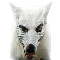 Wholesale Unique Animal Masks - silicone scary halloween unique kids birthday party supplies wolf mask Good quality halloween mask latex wolf face masks factory