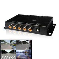 Wholesale View Images - IR control 4 Cameras Video Control Car Cameras Image Switch Combiner Box for Left view Right view Front Rear Parking Camera box