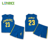 5ae4e061 Basketball Short Polyester Kits Basketball Jersey Uniforms Jame 23 Kid  Sport Suits Boys Print Number Child