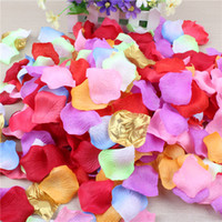 Wholesale dark red table runners wedding for sale - Group buy 5 CM Artificial Silk Rose Petals Wedding Party Decorations Aisle Runners Flower Girl Tossing Table Colors wedding petal