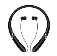 einziehbares bluetooth großhandel-HX965 Bluetooth Headsets Wireless CSR4.1 Nackenbügel Kopfhörer Retractable Ohrhörer Sport Ohrhörer mit MIC für iPhone Android Smartphones