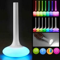 Wholesale Color Changing Led Flashlight - Indoor LED Color Changing Night Light Lamp Outdoor Flashlight Emergency Light Built-in Rechargeable Lithium Battery Touch Control Lamp