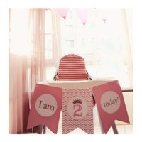 Wholesale I AM TODAY Pink Girl st First nd or Personalized Birthday Party Decorations High Chair Flag Banner Party Decoration