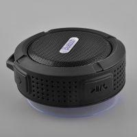 usb altavoz portátil para pc al por mayor-NUEVO Bluetooth Mini Altavoz portátil USB inalámbrico C6 Ducha de sonido a prueba de agua caja del altavoz de subgraves Boombox para el ordenador portátil / PC / MP3 / MP4
