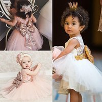 Wholesale Young Girls Images - 2017 New Toddler Kids Young Girls Flower Girl Dresses Princess Party Pageant Formal Dress Back Bow Vestido de Birthday and Communion