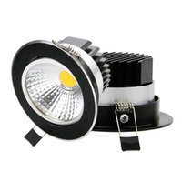 down lamp ceiling dimmable led 5w Canada - Newest Dimmable LED Downlight COB 5W 7W 10W 12W LED Ceiling Recessed Lights Black Spot Light Indoor down lamp Lighting