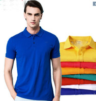 Wholesale black yellow striped shirt - Hot Sell New Brand 2017 crocodile embroidery Polo Shirt Men Short Sleeve Casual Shirts Man's Solid Polo Shirt Plus Camisa Polo