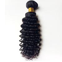 32 inç sapık kıvırcık saç toptan satış-Brezilyalı bakire insan saçı atkı kinky kıvırcık 8-30 inç Malezya Hint remy saç 3 4 5 adet Işlenmemiş Afro-Amerikan saç En Iyi Miktar