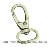 antike bronze hummer klaue großhandel-Antik Bronze Oval Ring Karabinerhaken Klaue Swivel Karabinerverschluss Haken für Armband 1 Zoll Innendurchmesser 20 Stück