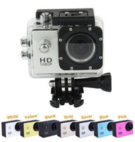 Wholesale Dvr Full - Camcorders Action Camera Cam Car Camera Recorder 1080P Full HD 5.0MP 2.0 Inches Screen Helemet 30M Waterproof DV DVR DHL FREE JBD-D10