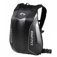 Wholesale Tank Bags Backpack - 2017 CUCYMA Motorcycle Backpack Knight Riding Racing Bag Motocross Computer Black Carbon Fiber Hard Shell Backpack