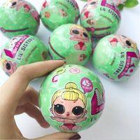 Wholesale Color Changing Eggs - 7.5 cm Send Random Dress Change LOL SURPRISE SURPRISE DOLL Baby Tear Open Color Change Egg Doll Action Figure Toys