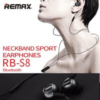 Wholesale Wholesale Usb Necklace - REMAX RB-S8 Sports Wireless Bluetooth 4.1 Headset Magnetic Clasp Necklace Earphone with MIC Volume Control Noise Canceling
