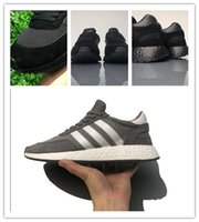 black snowboard boots - real boost with nipple quaity INIKI RUNNER Boosts sneakers triple black gray blue red with box