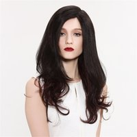 Wholesale human hair ombre wigs bangs for sale - Group buy Full Lace Wigs ombre braiding hair Full Lace Human Hair Wig Senior silk Long Wavy Brazilian Virgin Hair With Bangs For women Color