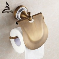 Wholesale Bronze Tissue Holder - Antique Bronze Finishing Paper Holder Roll Holder Tissue Holder,Brass Construction Bathroom Accessories High Quality HJ-1807F