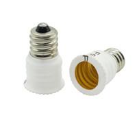 Wholesale E14 Light Bulb Base Socket - 5pcs lot E12 to E14 Light Socket Adapter Converter Base holder for LED Light corn Bulb Lamp indoor lighting