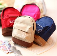 Wholesale Cheap Canvas Purses - Wholesale- New Sale kawaii fabric canvas mini backpack women girls kids cheap coin pouch change purses clutch bags wholesale