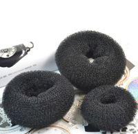 headbands alaranjados bonitos venda por atacado-Sara Donut Elástico Faixa de Cabelo Hairband Acessórios de Cabelo Ferramentas de Cabelo Rabo de Cavalo Titular Dacron 3 Pçs / lote (Aviso: Incluir S, M, L Cada um)