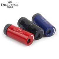 Wholesale Wholesale Network Supply - Wholesale-10Pcs Set Faber-Castell CASTELL 183301 Rotating Single-hole Pencil Sharpener Pencil Sharpener Student Stationery School Supplies