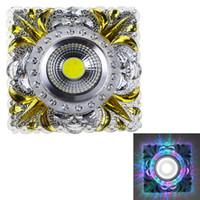plafón cuadrado 1w al por mayor-Al por mayor- Emisores laterales Regulables Llevados Downlights Resina Empotrados Lámparas de techo COB 3W + 1W Cuadrados Iluminación creativa SL57 AC 90-260V 220V 110V