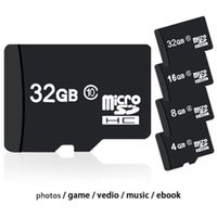 Wholesale Micro Sd Plastic Cases - 100% Real Storage 4GB 8GB 16GB 32GB SDHC Class 6 10 Micro Memory SD Card + Free SD Adapter + White Plastic Storage Case DHL Shipping