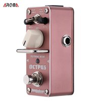 Wholesale Effects Octave - AROMA AOS-3 Octpus Polyphonic Octave Electric Guitar Effect Pedal Durable Mini Single Guitarra Effect Pedal with True Bypass