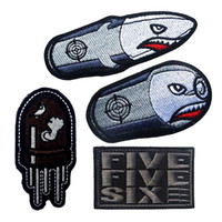 ingrosso distintivi dell'esercito-VP-158 Angry Richiamo di volo tattico patch Distintivo proiettili arrabbiati Morale patch Hook Loop 3D 100% del ricamo Army Badges