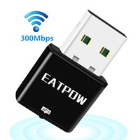 Wholesale Usb Warehouse - EATPOW Mini 2.4G 300Mbps 300M USB Wireless WiFi Adapter 802.11b g n Computer PC LAN Network Card overseas warehouse delivery