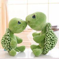 Wholesale Big Plush Turtles - 2017 New arriving 18cm Army Green Big Eyes Turtle Plush Toy Turtle Doll Turtle Kids As Birthday Christmas Gift