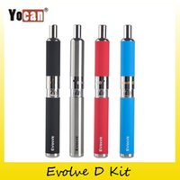 Wholesale D Ego Battery - Original Yocan Evolve-D Starter Kit dry herb pen Vaporizer with Pancake Dual Coils 650mAh Battery ego thread atomizer 100% genuine 2204022