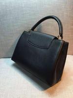 Wholesale Orange Tote Bags Purses - 2016 new arrival women's casual genuine leather calfskin hobos hot sale handbag shoulder messenger bag fashion tote bag famous purse