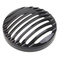 """Wholesale Black Headlight Cover - Harley Black 5 3 4"""" Aluminum Headlight Grill Cover Motorcycle lampshade For Sportster XL 883 1200 2004-2014"""