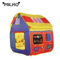 Wholesale Inflatable Huge - Wholesale-Safety Foldable Play Tent Kids Toy House Huge Tent for Children Indoor Play Yard Baby Playpens Portable Ocean Stress Ball Pool