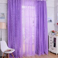 Wholesale Valance Windows - Promotion Rose Flowers Pattern Window Voile Curtain 100 * 200 CM Living Room Tull Valance Home Decoration Curtain P17