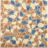 Wholesale Mosaic Tile Shapes - Mixed color glossy decorative ceramic mosaic tiles handmade irregular shape tiles kitchen backsplash bathroom ceramic mosaic tiles,LSSP07