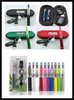 Wholesale Ego Brand Case - Brand EGO CE4 Starter Kit CE4 KIT CE4 E Cigarette Zipper Case Kits 650mah 900mah 1100mah DHL Free