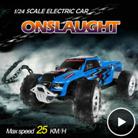 Wholesale Rc Car 24 Scale - Wholesale- High Quality 1:24 Full Scale High Speed Kids Cars WLtoys A999 Baby Toys RC Truck Model Super Original WL A999 Chirstmas Gifts