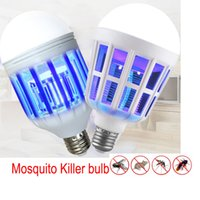 Wholesale Electronic Insect Lamp - cheap Electronic Mosquito Killer bulb Night Light 220V E27 LED Bulb 15W Repellent Fly Bug Insect Killer Trap Night Lamp