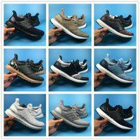 Wholesale Aqua Flats - Ultra Boost 3.0 Shoes Triple Black White Multi-color Trace Khaki Aqua Mens Womens Boosts Size EU36-45 Top Quality Real Boost Wholesale