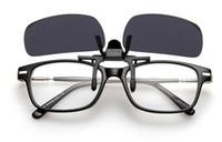 Wholesale M Eyeglasses - 2017 NEW Design Sunglasses Clip Lens Easy To Use Factory Price S M L UV400 Clamps Frameless Eyeglasses Men Polarized Driver Sun glasses Clip