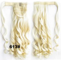 Wholesale Wholesale Fake Hair Ponytail - Wholesale- Clips In ponytail fake hair extensions false hair pony tail hair clip in ponytails big wavy heat resistant ponytail for women