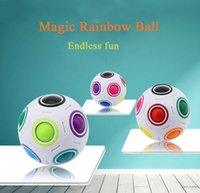 Wholesale Speed Resistance - Infinite Rainbow White Football Spherical Ball Shaped Magic Cube Speed Puzzle Toy Gift Decompression Square Antistress Resistance Anxiety