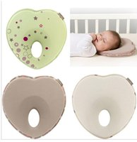 Wholesale baby pillow infant shape toddler sleep positioner anti roll cushion flat head pillow protection of children almohadas bebe