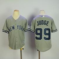 9fe31e060 ... Baseball Boys Short Youth 2017 New York Yankees Grey 99 Aaron Judge  Jersey Kids Cool Base ...